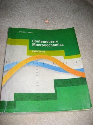 9780879016371: Contemporary Macroeconomics