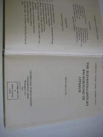 9780879078089: The Eleventh-Century Background of Citeaux (Cistercian Studies)