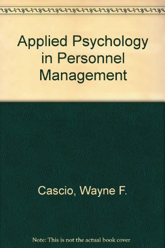 9780879090388: Applied Psychology in Personnel Management