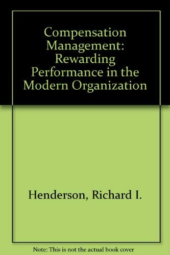 9780879091446: Title: Compensation management Rewarding performance in t