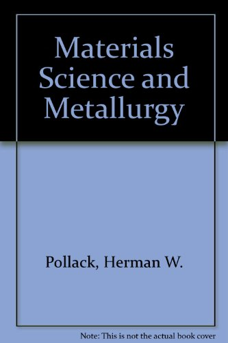 9780879094805: Materials Science and Metallurgy