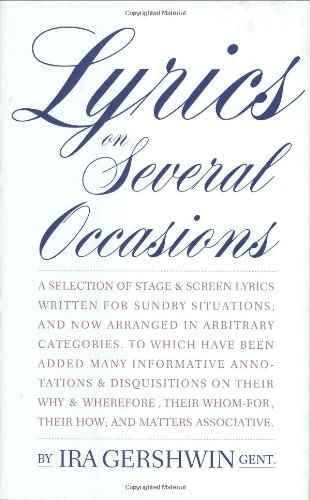 Lyrics on Several Occasions (Limelight): Gershwin, Ira