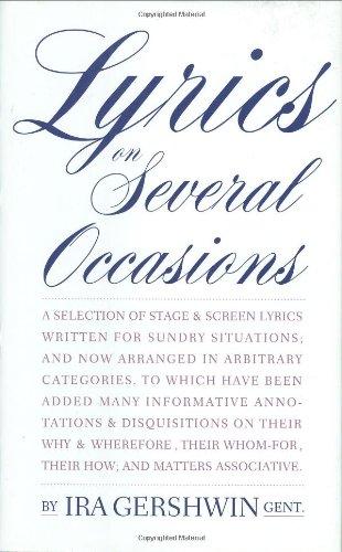 9780879100506: Lyrics on Several Occasions (Limelight)