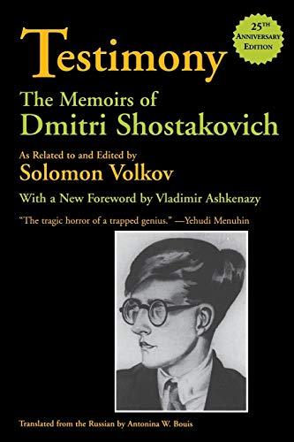 9780879109981: Testimony: The Memoirs of Dmitri Shostakovich
