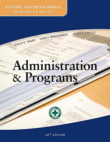 9780879123215: Accident Prevention Manual for Business and Industry: Administration & Programs 14ed