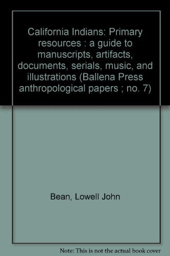 ballena press anthropological papers Buy california indian shamanism (ballena press anthropological papers no 39) by lowell john bean (isbn: 9780879191245) from amazon's book store everyday low.