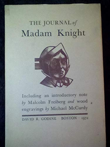 The Journal of Madam Knight: Knight, Sarah Kemble