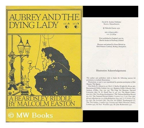 9780879230685: Aubrey and the dying lady: A Beardsley riddle