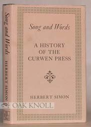 9780879230951: Song and Words: A History of the Curwen Press
