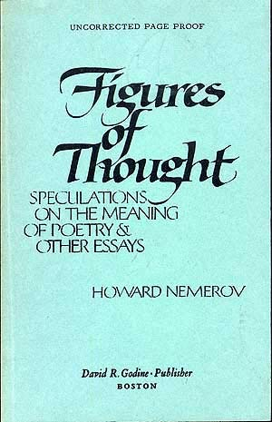 9780879232122: Figures of thought: Speculations on the meaning of poetry & other essays