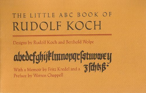 9780879232955: The Little ABC Book of Rudolf Koch