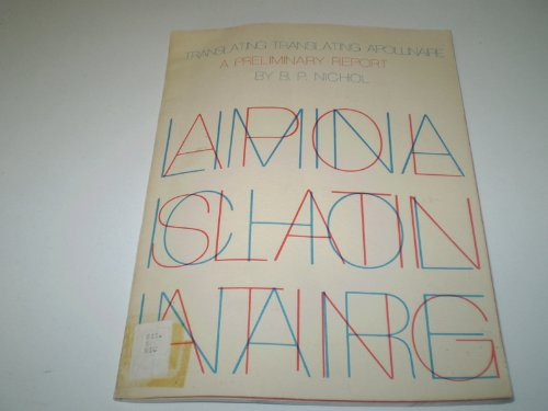 9780879240318: Translating Translating Apollinaire