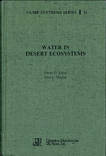 9780879333652: Water in Desert Ecosystems (US/IBP synthesis series)