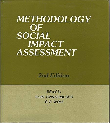 9780879334017: Methodology of Social Impact Assessment