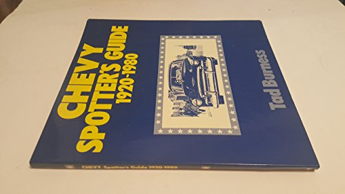 9780879381516: Chevy spotter's guide 1920-1980