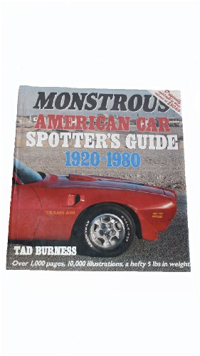 9780879382230: Monstrous American Car Spotter's Guide 1920-1980/110383Ap