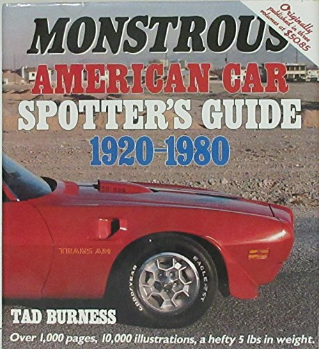9780879382230: Monstrous American Car Spotter's Guide 1920-1980