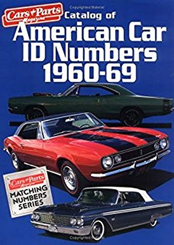 9780879385187: Catalog of American Car I.D. Numbers 1970-79 (CARS & PARTS MAGAZINE MATCHING NUMBERS SERIES)