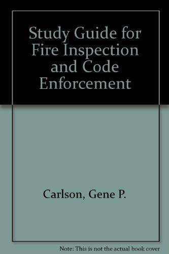 9780879390808: Study Guide for Fire Inspection and Code Enforcement