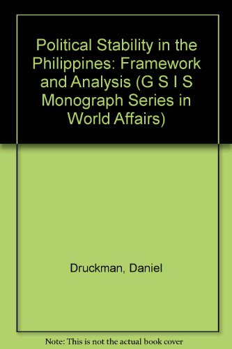Political Stability in the Philippines: Framework and: Druckman, Daniel, Green,