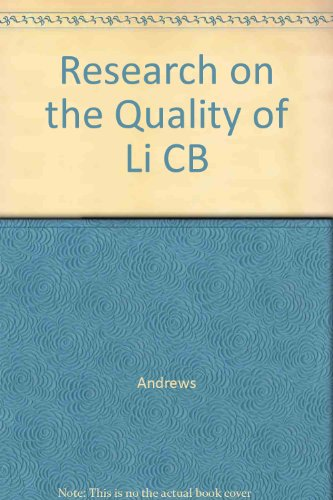 Research on the Quality of Life