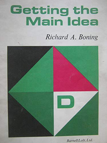 9780879650148: Getting the main idea (Specific skill series)