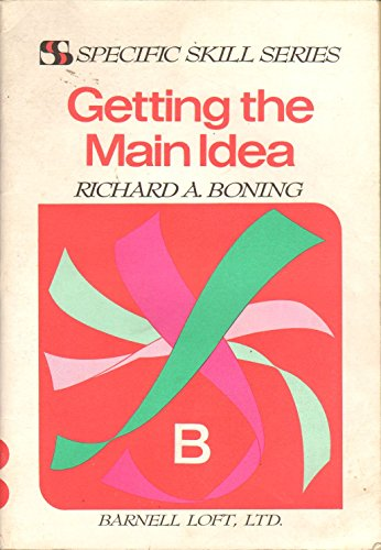 9780879657420: Getting the main idea (Specific skill series)