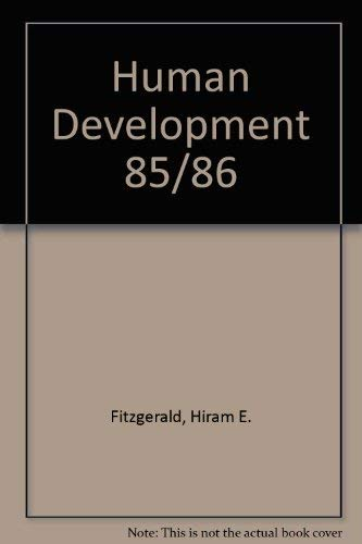 9780879675837: Human Development (Annual Editions, 85/86)
