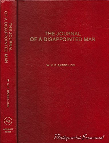 9780879681500: The Journal of a Disappointed Man