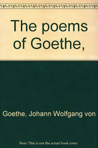 9780879681517: The poems of Goethe,
