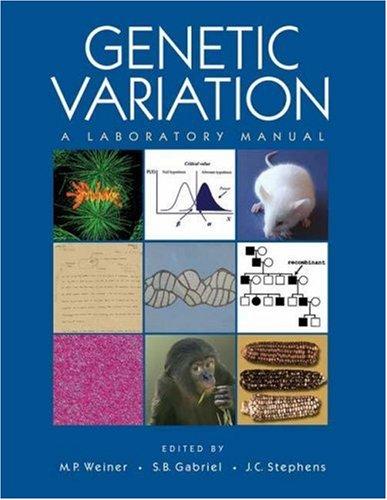 9780879697792: Genetic Variation: A Laboratory Manual