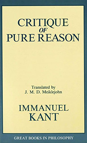 9780879755966: The Critique of Pure Reason (Great Books in Philosophy)