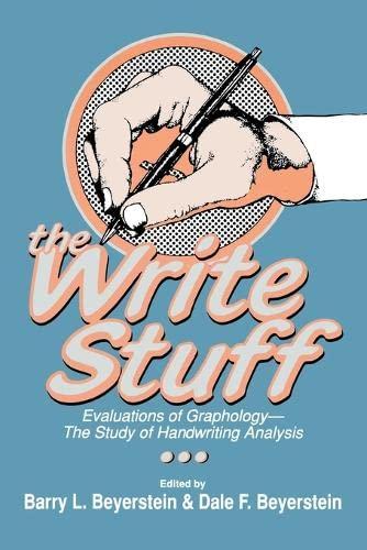 9780879756130: The Write Stuff
