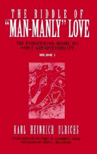 9780879758660: The Riddle of Man-Manly Love: The Pioneering Work on Male Homosexuality
