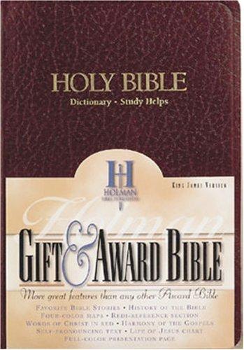 9780879814632: KJV Gift & Award Bible, Burgundy Imitation Leather
