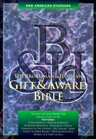 New American Standard Gift and Award Bible (Black Imitation Leather)