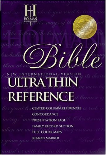 9780879818227: NIV UltraThin Reference Bible (Black Genuine Leather)