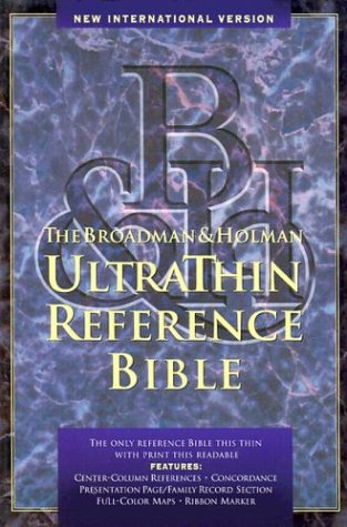 9780879819484: New International Version Ultrathin Reference Bible Indexed Black Bonded Leather.