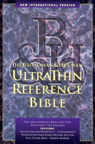 9780879819545: NIV UltraThin Reference Bible: Indexed (Black Genuine Leather)