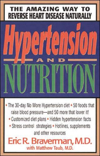 Hypertension and Nutrition 9780879836887 Millions of people suffer from hypertension, and many are treated with drugs that have uncomfortable side effects. This book outlines programmes for relieving the symptoms using everyday foods and nutritional supplements. Also included are stress reduction techniques, meal plans and recipes, plus 30-, 60-, and 90-day programmes to lower blood pressure and normalize cholesterol levels.