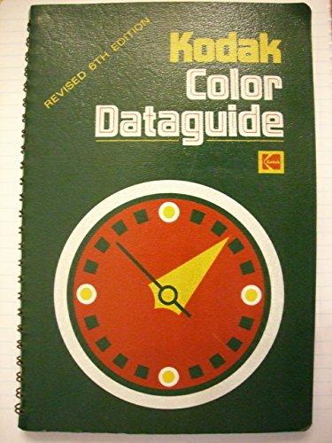 Kodak Color Darkroom Dataguide: Eastman Kodak Company
