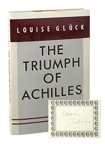 9780880010818: Gluck the Triumph of Achilles (Cloth)