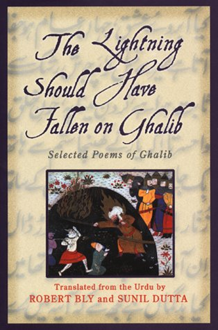 The Lightning Should Have Fallen on Ghalib: Selected Poems of Ghalib: Ghalib; Bly, Robert; Dutta, ...