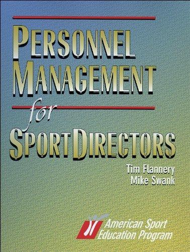 9780880117579: Personnel Management for Sport Directors