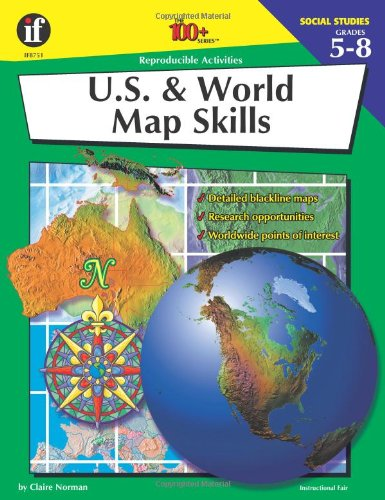 U S And World Map Skills 100 Series Claire Norman