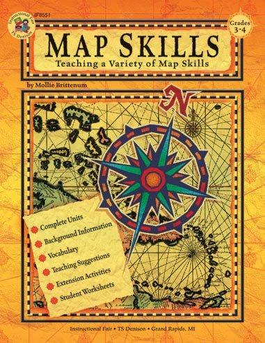 9780880128407: Map Skills: Teaching a Variety of Map Skills (Grades 3 -4)