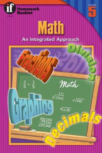 9780880129435: Math: An Integrated Approach Homework Booklet, Grade 5 (Homework Booklets)