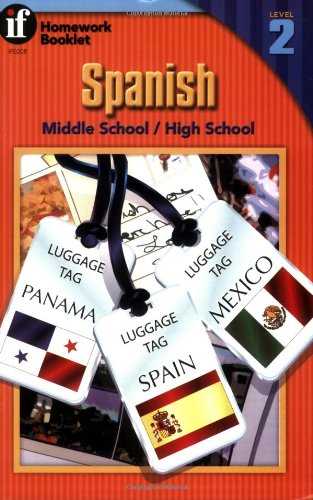 9780880129886: Spanish Homework Booklet, Middle School / High School