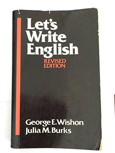 9780880185851: Let's Write English