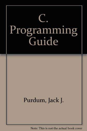 9780880221573: C. Programming Guide